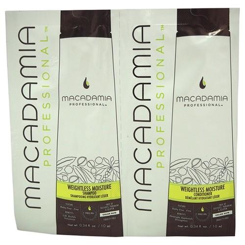 Macadamia 2 x 0.34-ounce Professional Weightless Moisture Shampoo & Conditioner Duo
