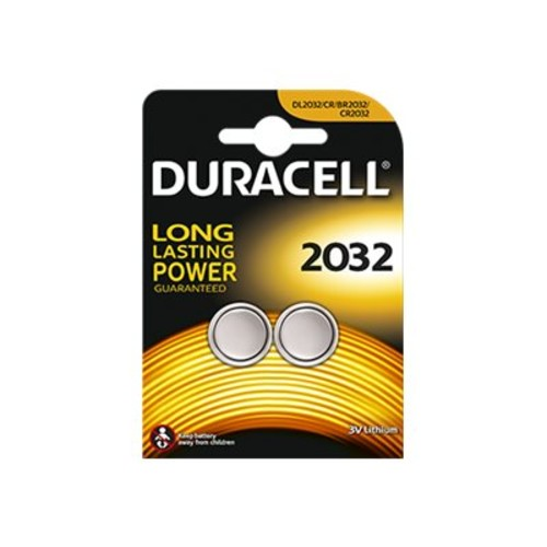 Duracell DL2032B2PK Lithium Coin Cell, Voltage 3, Battery Size 2032, 2 PK DL2032B2PK
