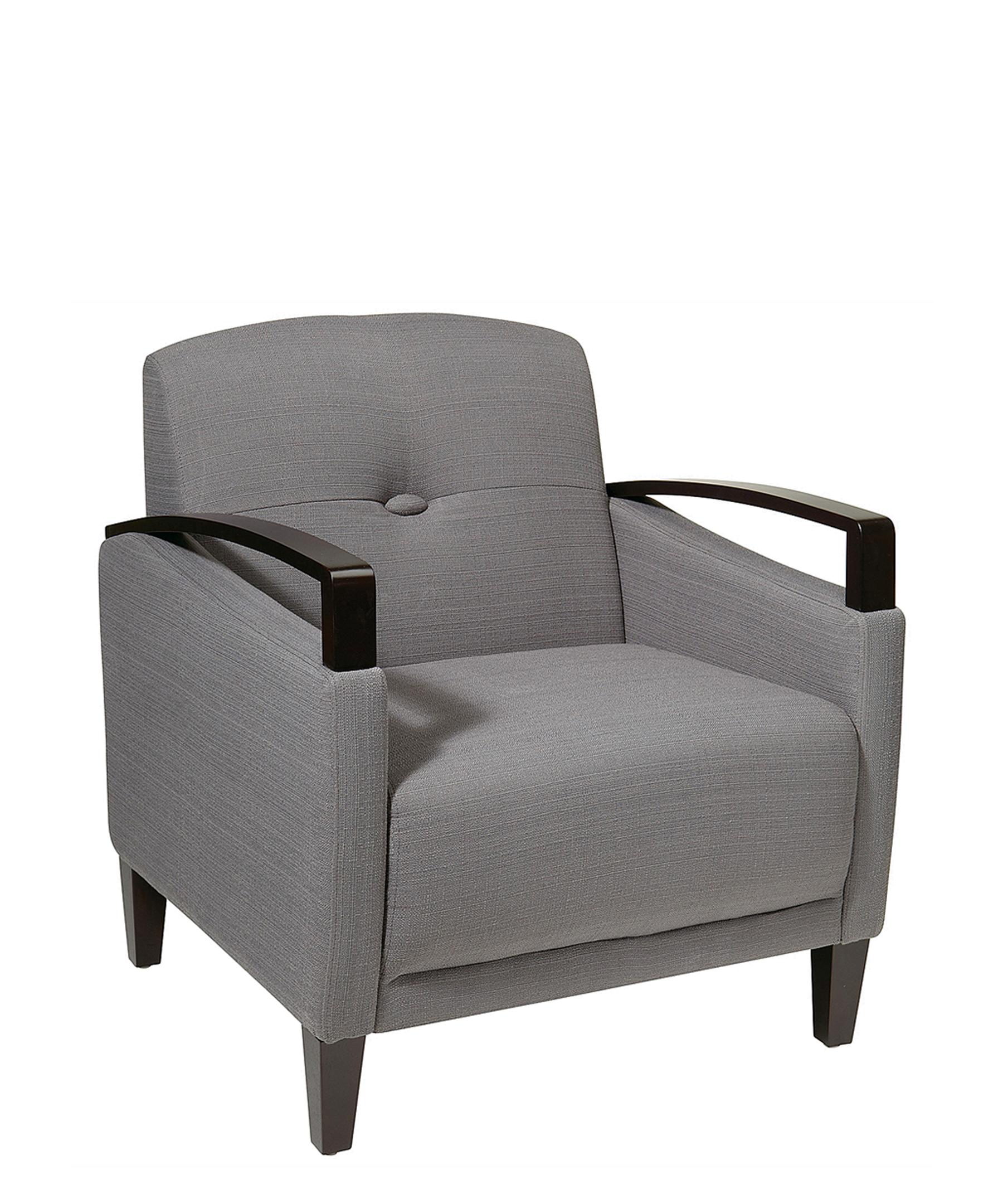 Ave Six Main Street Charcoal Fabric Arm Chair