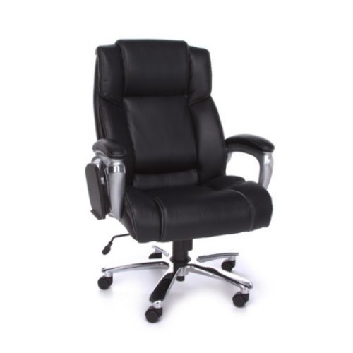 OFM Oro Series Executive Leather Chair, Black