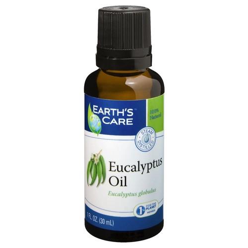 Eucalyptus Oil 100% Pure & Natural Earth's Care 1 oz Oil