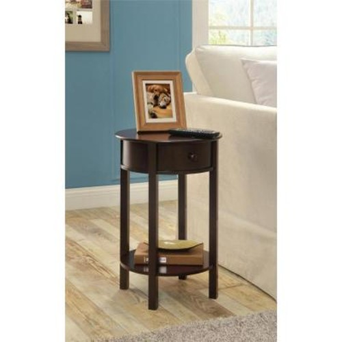 Altra Furniture Tipton Espresso Storage End Table