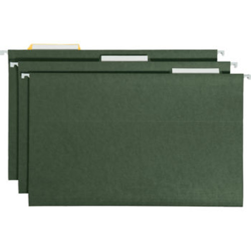 Smead Hanging File Folders, 1/3 Tab, Legal, Green, 25-count
