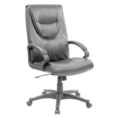 Offex Black Leather High-back Executive Swivel Office Chair