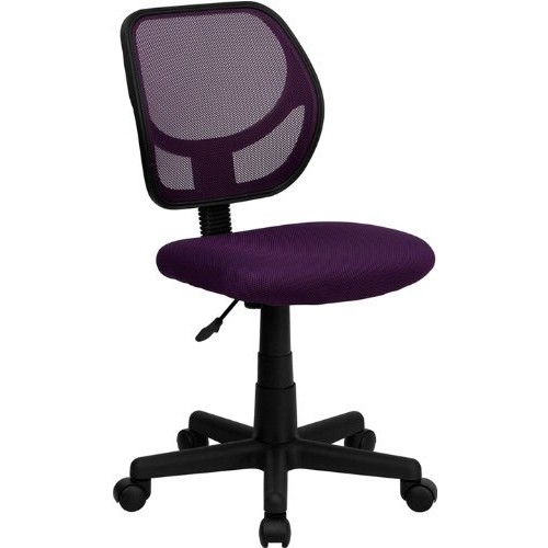 Flash Furniture Mid-Back Purple Mesh Swivel Task Chair