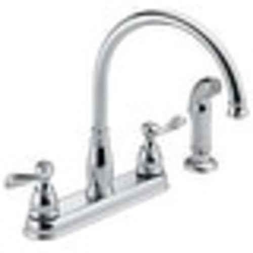 Delta 21996LF Two Handle Kitchen Faucet, Chrome