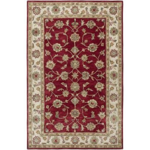 LR Resources Heritage Red/Ivory 9 ft. x 12 ft. 9 in. Traditional Indoor Area Rug
