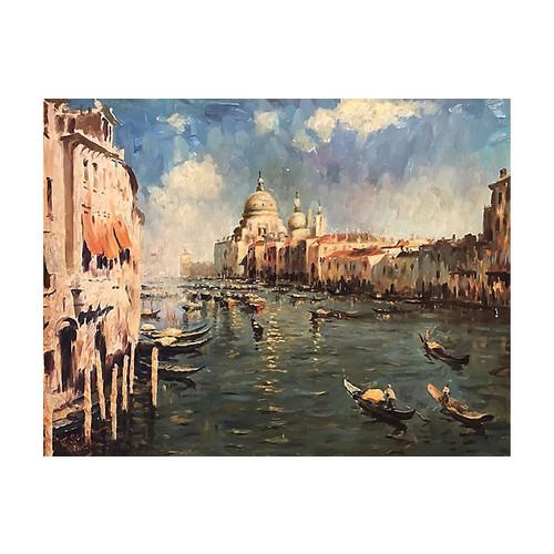 Venice's Grand Canal by E. Seggia