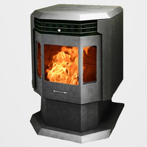ComfortBilt 2,400 sq. ft. EPA Certified Pellet Stove with Auto Ignition