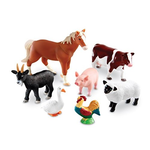 Learning Resources Jumbo Farm Animals Set, 7 Pieces [Standard Packaging]