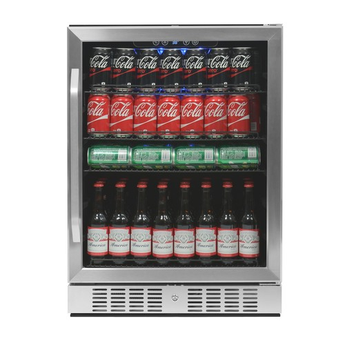 Air ABR-1770 177 Can Deluxe Beverage Cooler, Stainless Steel
