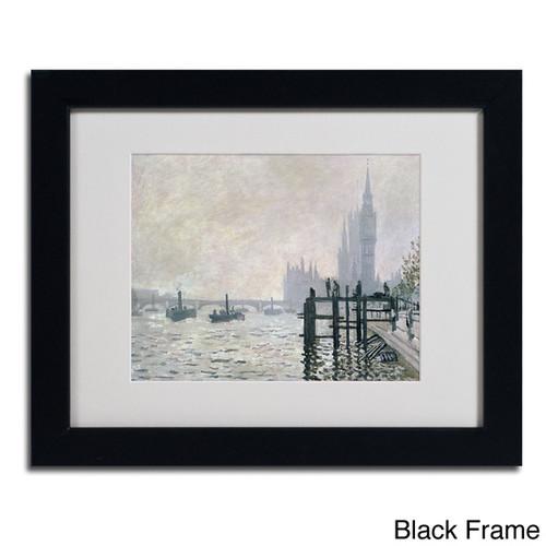 Claude Monet 'The Thames Below Westminster' Framed Matted Art