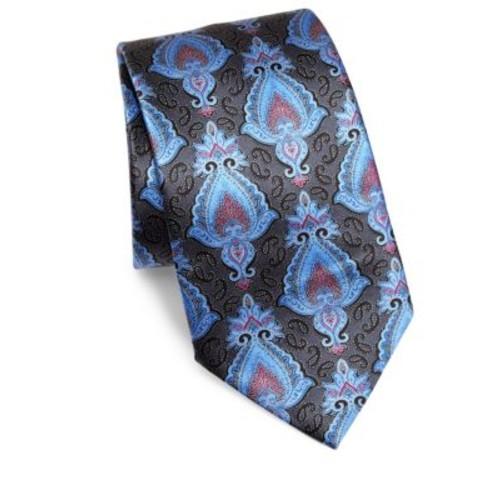 Paisley Printed Silk Tie