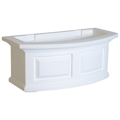 Mayne 4829-W Nantucket Polyethylene Window Box, 2' , White [White]
