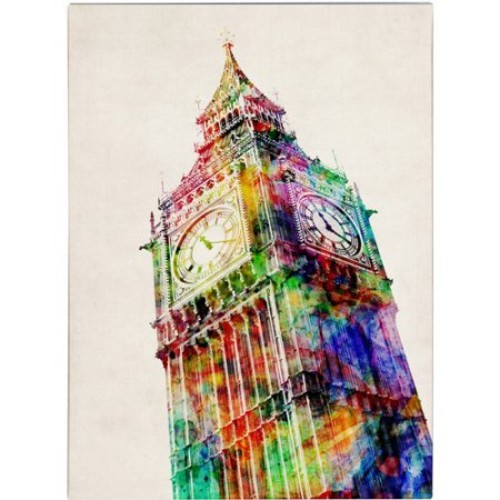 Big Ben by Michael Tompsett, 14 by 19-Inch Canvas Wall Art [14 by 19-Inch]