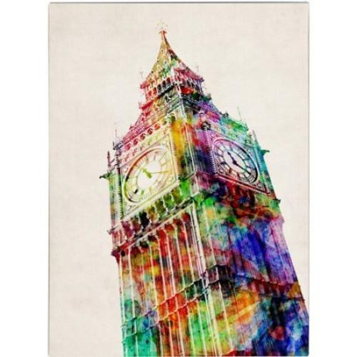 Big Ben by Michael Tompsett, 14 by 19-Inch Canvas Wall Art