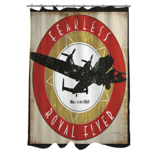 Sweet Jojo Designs Vintage Aviator Kids Airplanes Shower Curtain