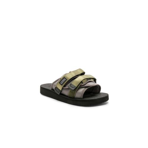 JOHN ELLIOTT x Suicoke Sandals in Black & Charcoal