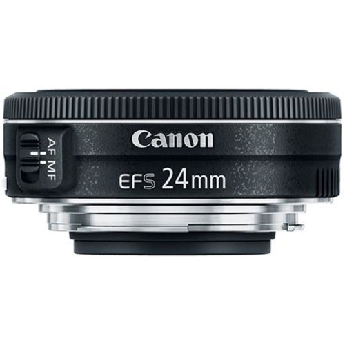Canon EF-S 24mm f/2.8 STM Wide Angle Lens - Includes Cleaning Kit, Capleash II