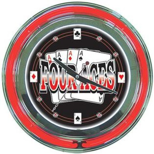 TRADEMARK GLOBAL FOUR ACES CLOCK