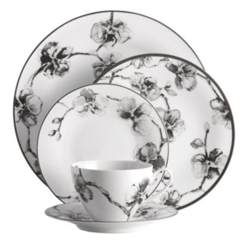 Black Orchid 5-Piece Place Setting