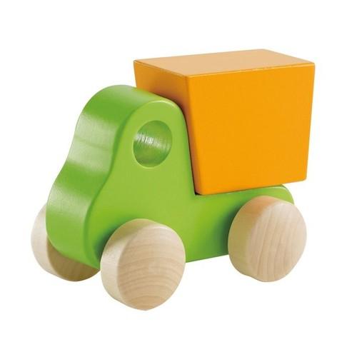 Hape 'Little Dump Truck' Green and Orange Wooden Toy Vehicle