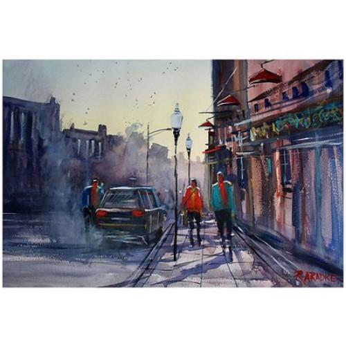 Ryan Radke Sunset Stroll - Wautoma Canvas Art