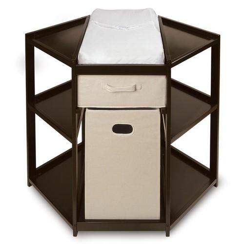 Espresso Corner Changing Table