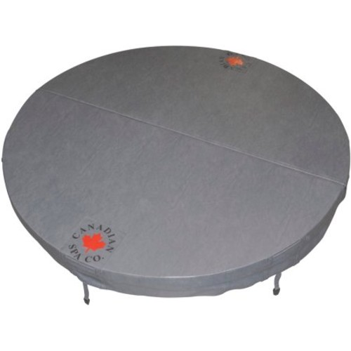 Canadian Spa Company 80 in. Round Hot Tub Cover with 5 in./3 in. Taper - Charcoal