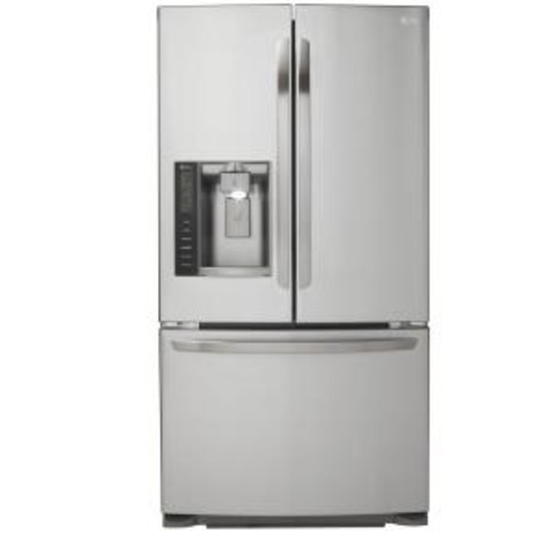 LG Electronics 24.1 cu. ft. French Door Refrigerator in Stainless Steel, Dual Ice Maker