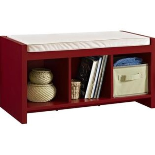 Ameriwood Home Altra Furniture Penelope Entryway Storage Bench in Red