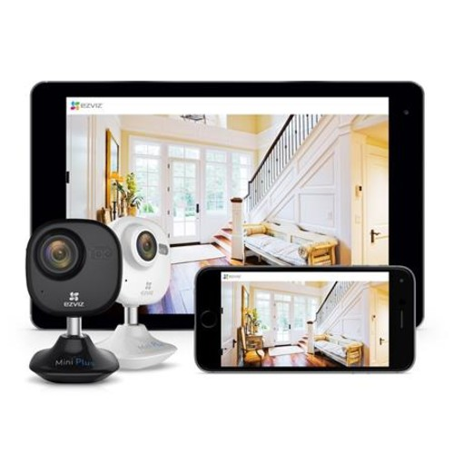 EZVIZ Mini Plus CV-200 1080p Wi-Fi Cloud Camera with 16GB microSD Card, White