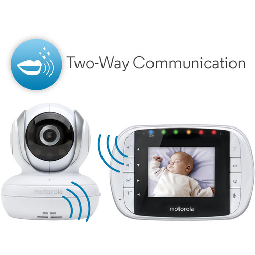 Motorola 2.8 inch Remote Wireless Digital Video Baby Monitor - MBP33S