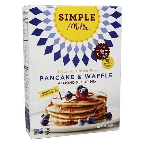 Simple Mills - Naturally Gluten-Free Almond Flour Mix Pancake & Waffle - 10.7 oz.