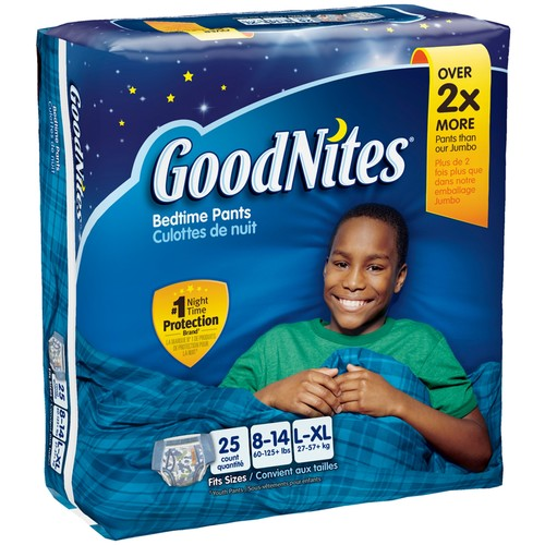 GoodNites Boy's, Bedtime Pants Small/Medium to Large/Extra Large [Number Included : 33]