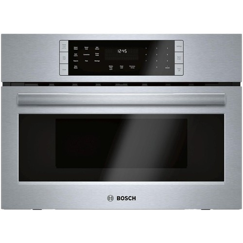 Bosch - 800 Series 1.6 Cu. Ft. Built-In Microwave - Stainless steel