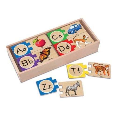 Melissa & Doug Alphabet Wooden Puzzles with Storage Box - 52-Piece