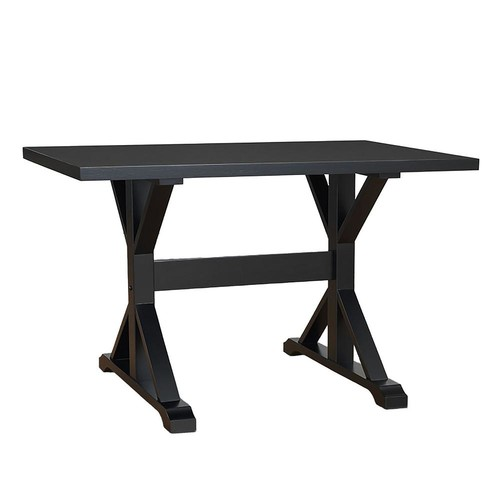 Carolina Cottage Delano Antique Black Writing Trestle Desk