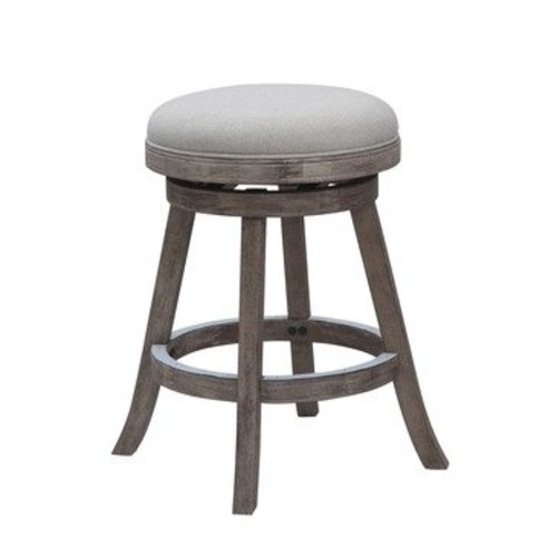 Boraam Counter Stool With Driftwood Gray Finish In Ivory 24 Inch