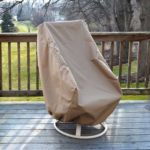 Island Umbrella NU5622 All-Weather Protective Cover for High Back Chair [Brown]