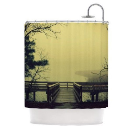 KESS InHouse Fog on The River Polyester Shower Curtain