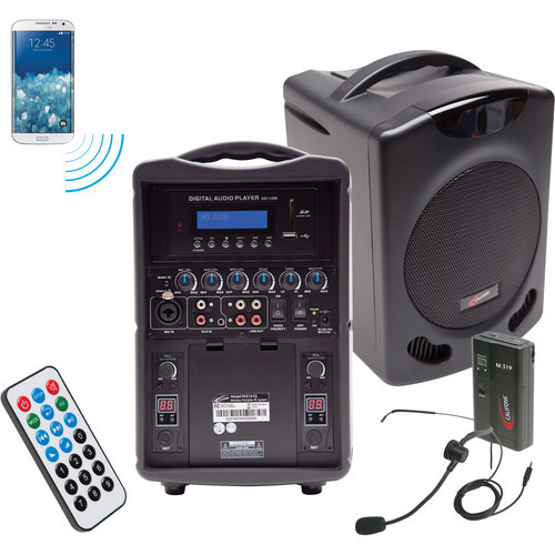 PA419M Portable Bluetooth PA with Wireless Transmitter and Headset Microphone System