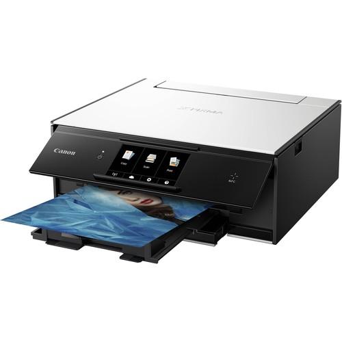 Canon PIXMA TS9020 Wireless All-in-One Inkjet Printer (White)