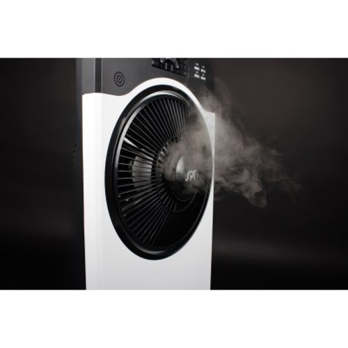 Sunpentown Indoor Misting and Circulation Fan, White