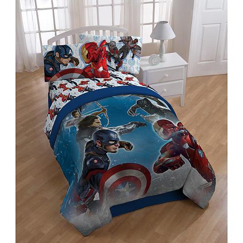 Marvel Avengers Captain America Civil War Twin Comforter Set