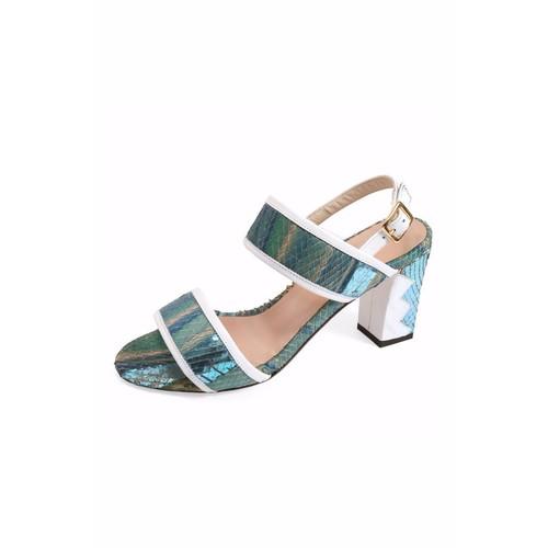 Turquoise-Blue Ankle-Strap Sandal