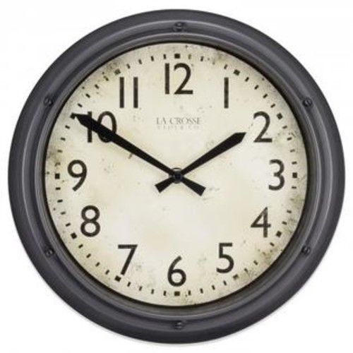 La Crosse Technology 404-2630 12 in. Plastic Wall Clock