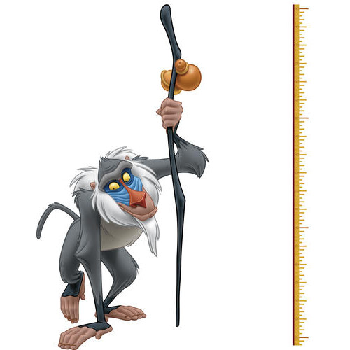 RoomMates The Lion King Rafiki Peel and Stick Metric Growth Chart Wall Decals