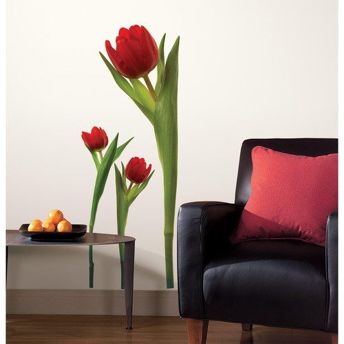 RoomMates RMK1308GM Tulip Peel & Stick Giant Wall Decals