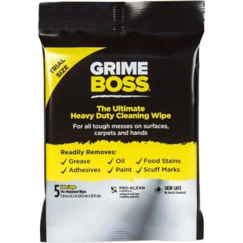 GRIME BOSS 5-Count Hand Wipes